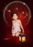 小女孩和星 免版税图库摄影