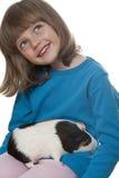 小女孩和试验品 图库摄影