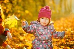小女孩在公园 库存照片
