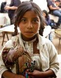 小女孩在恰帕斯州,墨西哥 免版税库存照片