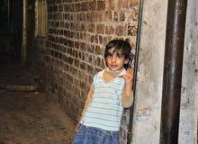 小女孩在老拉合尔 免版税库存照片