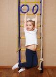 小女孩女运动员 库存照片