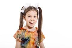小女孩微笑 库存图片