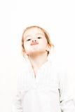 小女孩情感表情-亲吻 免版税库存图片
