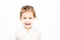 小女孩情感表情-幸福 库存照片