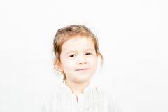 小女孩情感表情-幸福 库存图片