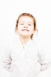 小女孩情感表情-幸福 免版税库存照片