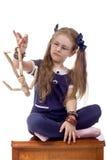 小女孩玩偶 免版税库存图片