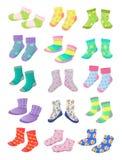 小女孩的袜子 免版税库存照片