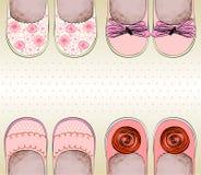 小女孩的鞋子 库存照片