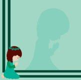 小女孩祈祷 免版税库存照片