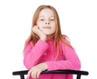 小女孩纵向  图库摄影