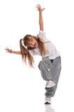 小女孩跳舞 免版税库存图片