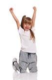 小女孩跳舞 免版税库存照片