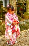 小女孩,奈良,日本 免版税库存图片