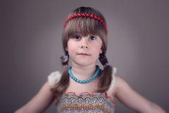 小女孩画象  免版税图库摄影