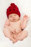 小女婴,睡觉 免版税库存照片