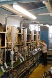小奶牛场的挤奶厅 免版税图库摄影