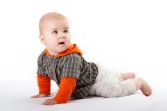 小婴孩摆在 免版税库存图片