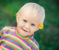 小婴孩的纵向 库存照片
