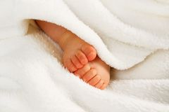 小婴孩的行程 库存照片