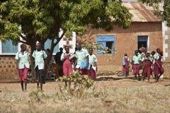 小学生在南苏丹 图库摄影