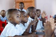 小学生在海地 免版税库存图片