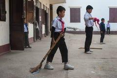 小学生在老挝 库存图片