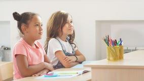 小学生积极参加类 教育,家庭作业概念 影视素材