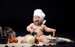 小孩厨师 免版税图库摄影