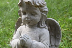 小孩天使祈祷 免版税库存照片