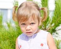 小孩女孩画象  免版税库存图片