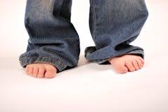 小孩脚 免版税图库摄影