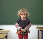 小孩s第一天在幼儿园 免版税库存照片