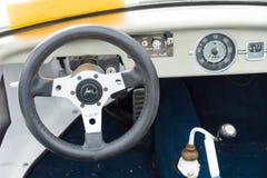 小室自创车的儿童车,根据大众甲壳虫 免版税库存图片