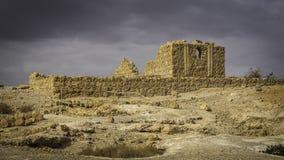 小宫殿在马萨达 库存图片