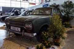 小家用汽车福特Escort MK1 1300 XL, 1970年 图库摄影