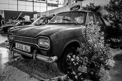 小家用汽车福特Escort MK1 1300 XL, 1970年 免版税图库摄影