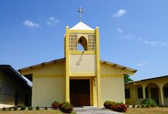 小宽容教堂在巴拿马的乡下 免版税库存照片