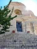 小寺庙在卡帕多细亚 免版税图库摄影