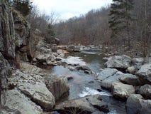 小小河和柔和的急流 库存图片