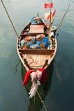 小小船的捕鱼 免版税库存图片