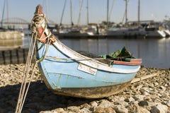 小小船的捕鱼 库存照片