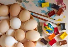 小小组鸡蛋 免版税库存图片