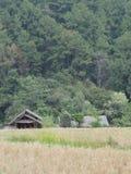 小屋在农场 免版税库存照片