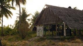 小屋在加勒比 免版税库存照片