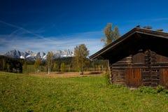 小屋在提洛尔 库存照片