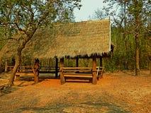 小屋在森林里 免版税库存照片