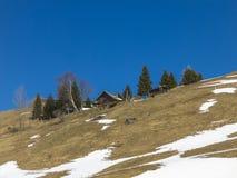 小屋在法国阿尔卑斯 库存图片