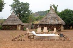 小屋在Campament Ethiolo 库存照片